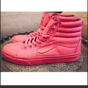 Hot Pink Vans High Top Sneakers